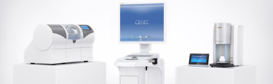 Image of the CEREC machine by Sirona, similar to what Dr. James Yang uses in his dental office
